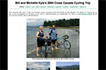 Bill and Michelle Kyle's 2004 Cross Canada Cycling Trip